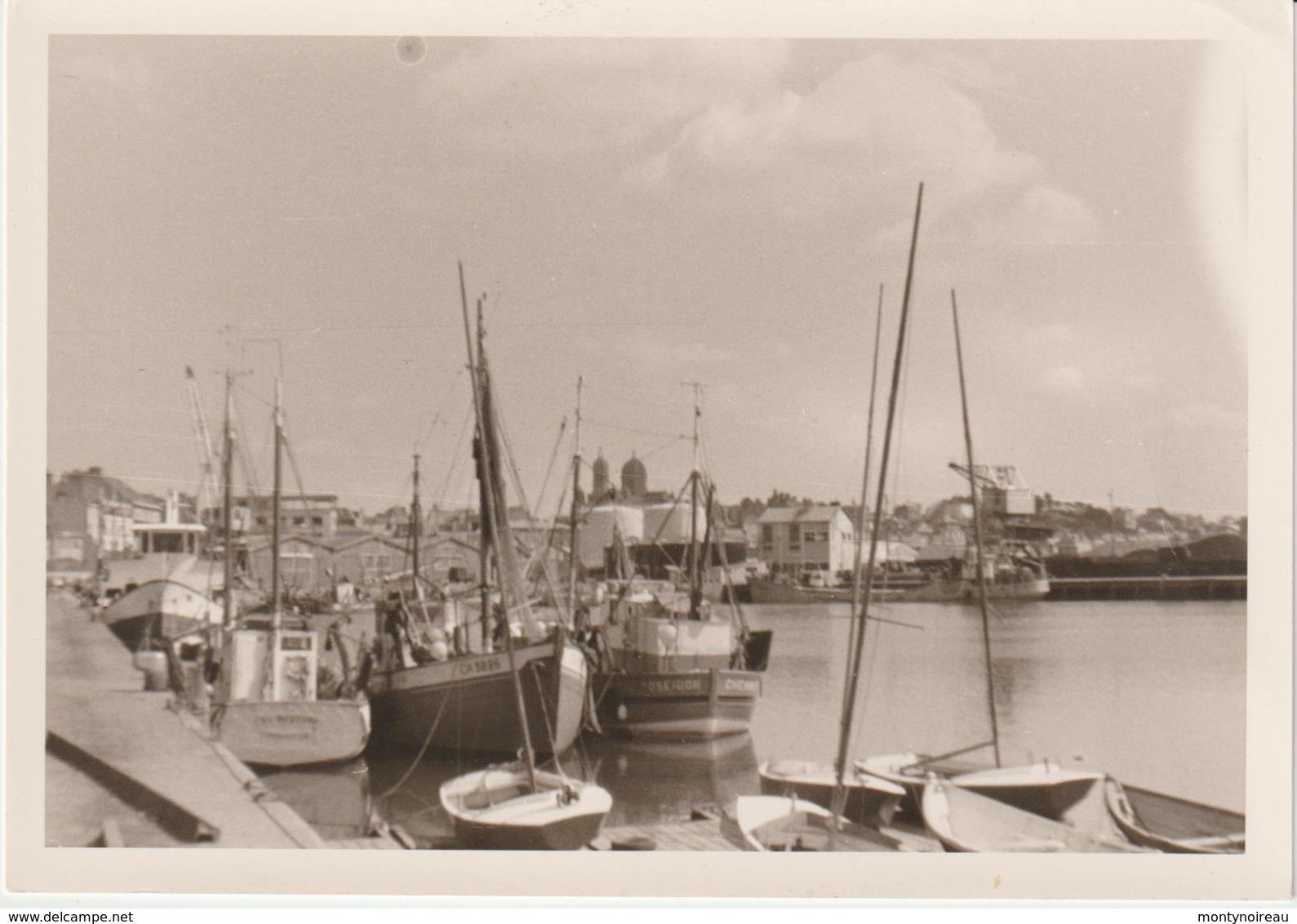 Vieux Papier  :   Région   Manche , Photo  Granville   Port, Bateau - Old Paper