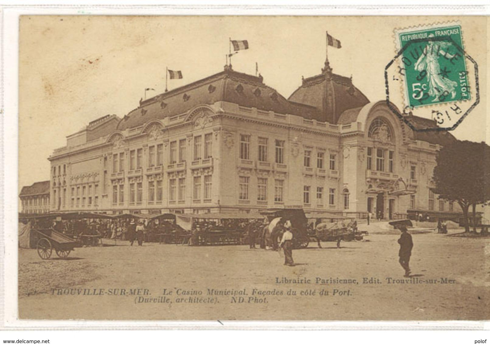 TROUVILLE - Le Casino Municipal - Cachet Octogonal  Trouville A Päris   ( 11183) - Trouville
