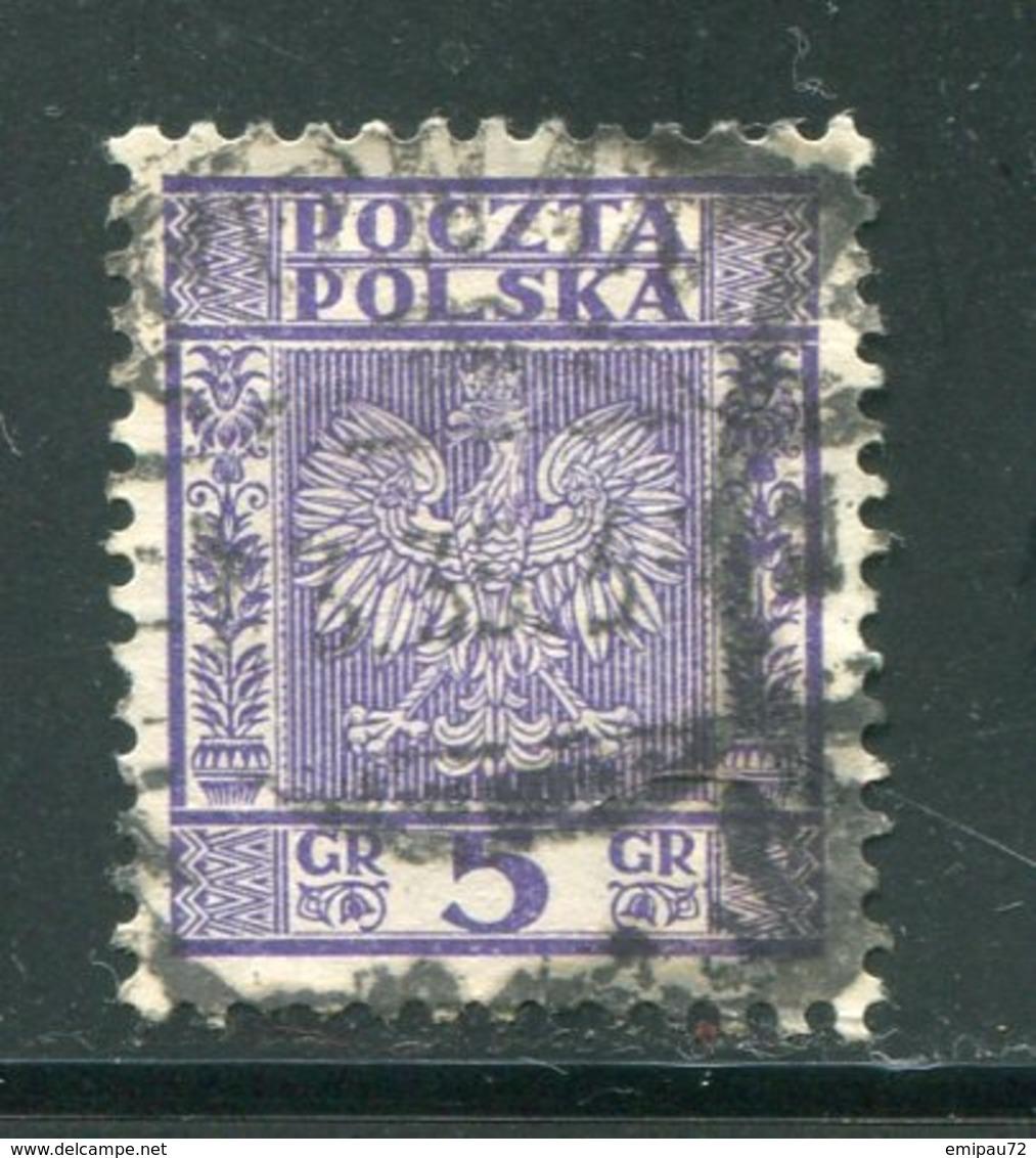 POLOGNE- Y&T N°356- Oblitéré - 1919-1939 Republic