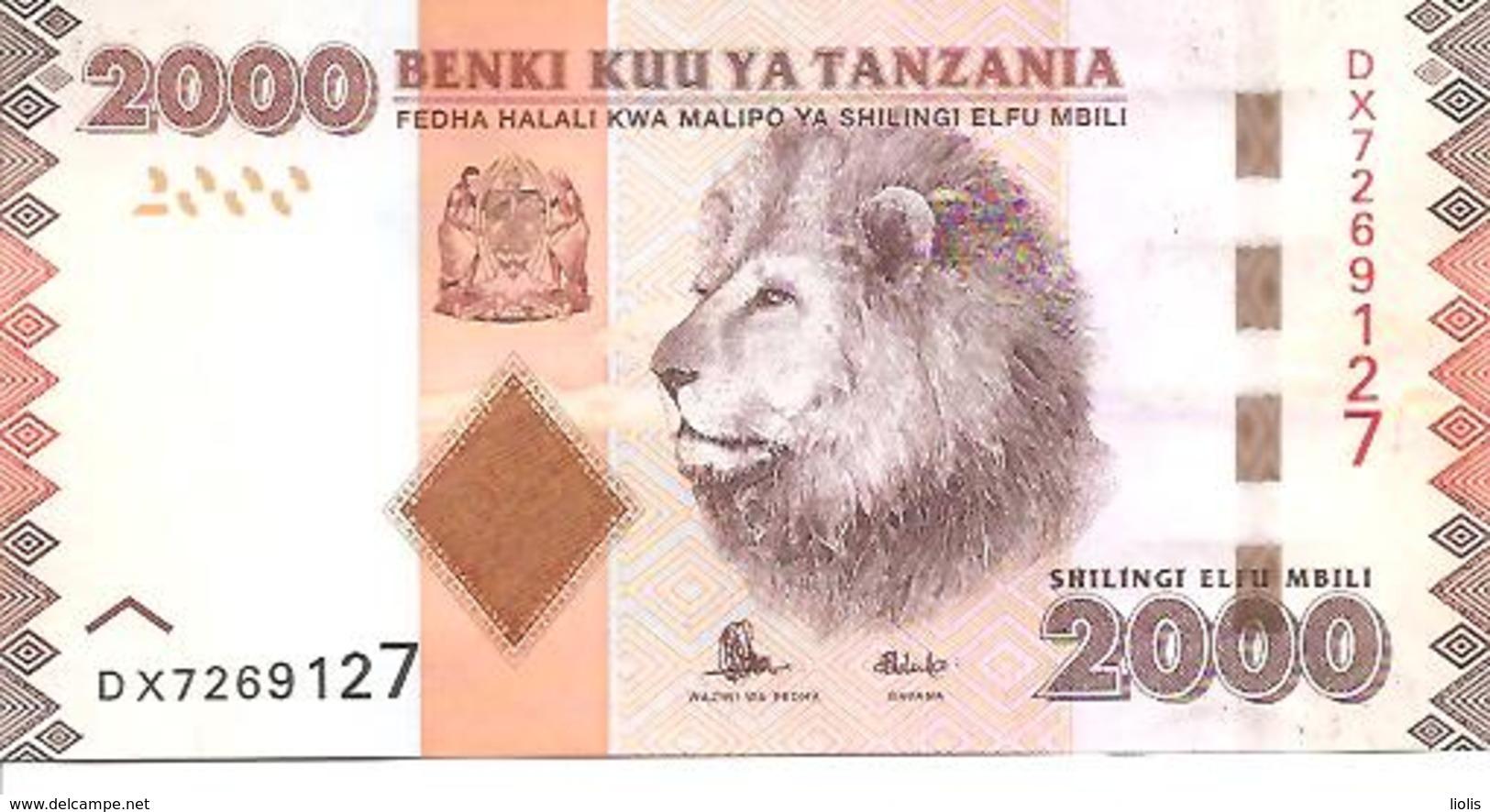 Tanzania  P-42b  2000 Shillings  2015  UNC - Tanzania