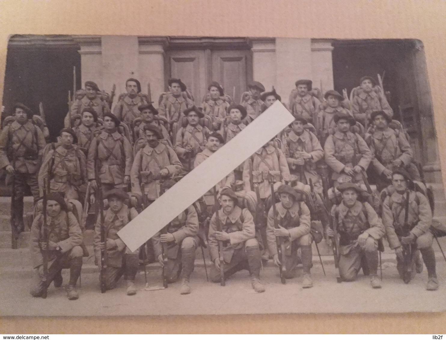 1916 1918 Grasse Brignoles 23 Eme BCA Bataillon De Chasseurs Alpins Fusils Berthier Tranchée Poilus 1914 1918 14-18 1cph - War, Military