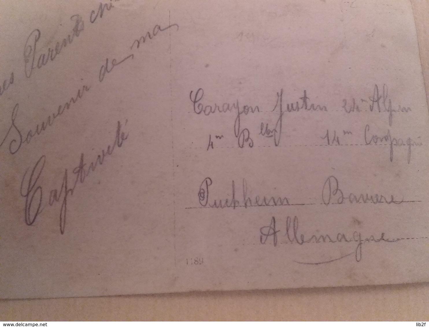 1914 1916 Villefranche Puchheim 24 Eme BCA Bataillon De Chasseurs Alpins Prisonnier Guerre Pg  Poilus 1914 1918 1cph - War, Military