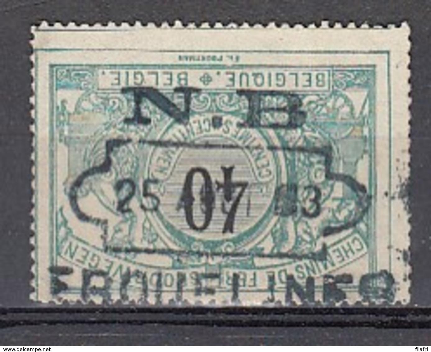 TR 20 Gestempeld NORD-BELGE (N.B.) - ERQUELINES - Bahnwesen