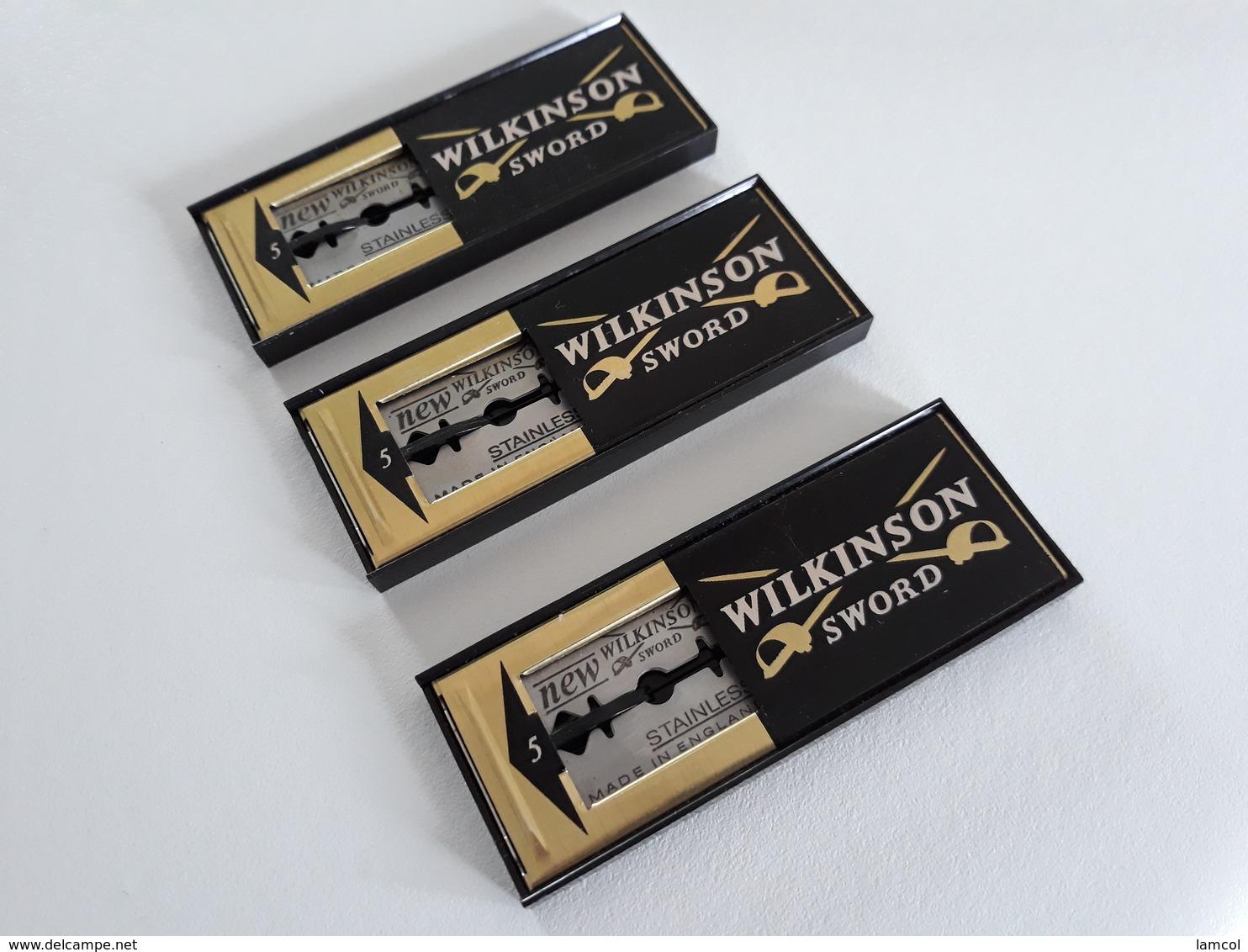Lot De 3 Distributeurs De Lames De Rasoir WILKINSON - Safety Razor Blade Dispensers - Lamette Da Barba