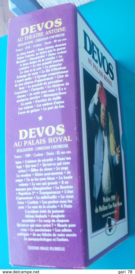 Coffret VHS DEVOS Au Palais Royal Et Au Théâtre Antoine - Autres