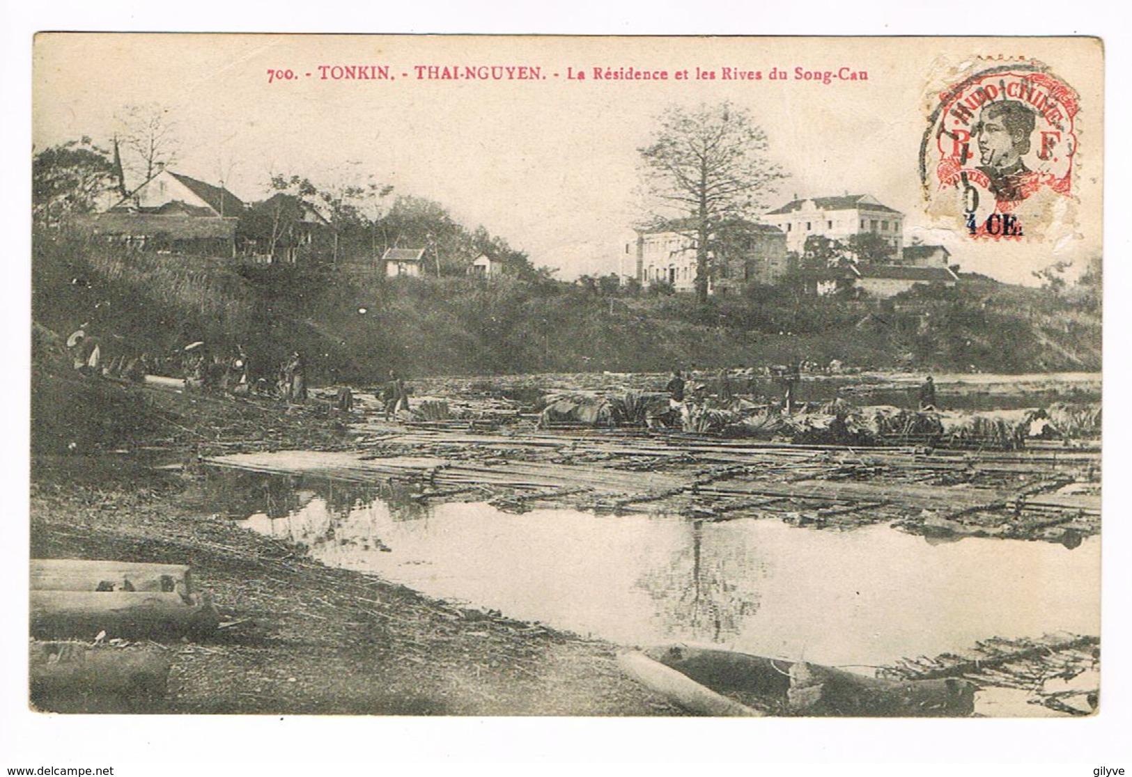 CPA Viêt-Nam.Tonkin.Thai-Nguyen.Résidence Et Rives Du Song-Cau.  (F.049) - Viêt-Nam