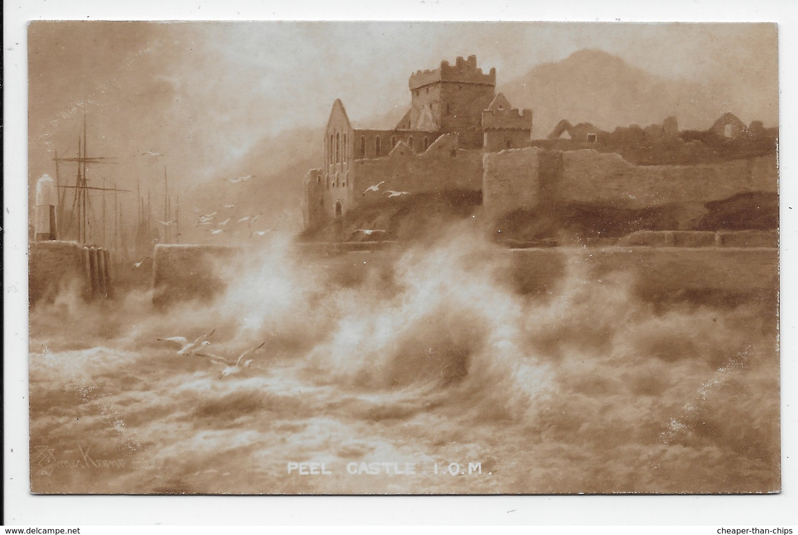 Peel Castle. I.O.M. - Elmer Keene - Isle Of Man