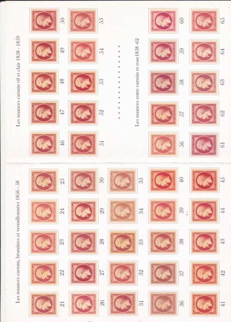 NUANCIER DE COULEURS SUR 17 COMPLET - 1853-1860 Napoléon III