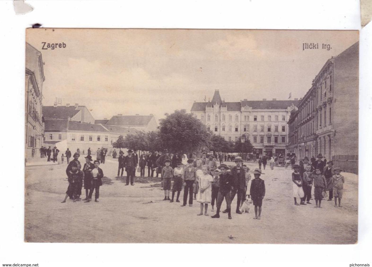 HRVATSKA CROATIA CROATIE Jlicki  Zagreb Dopisnica - Bosnie-Herzegovine