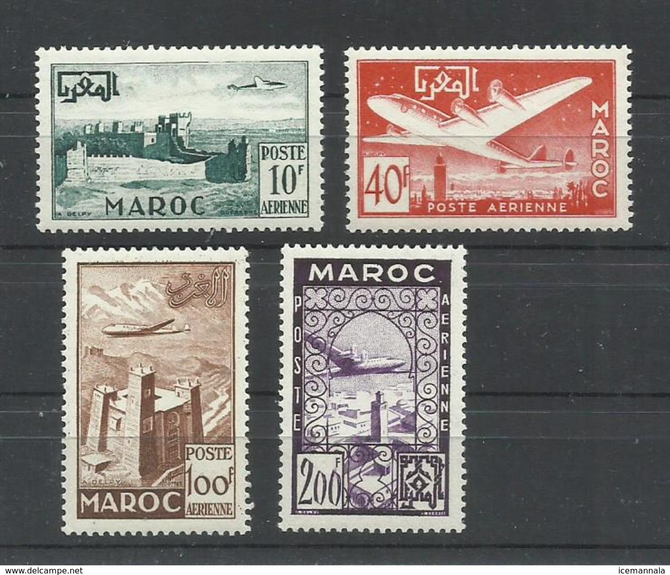 MARRUECOS  AEREO YVERT  85/88    MH  * - Marruecos (1891-1956)