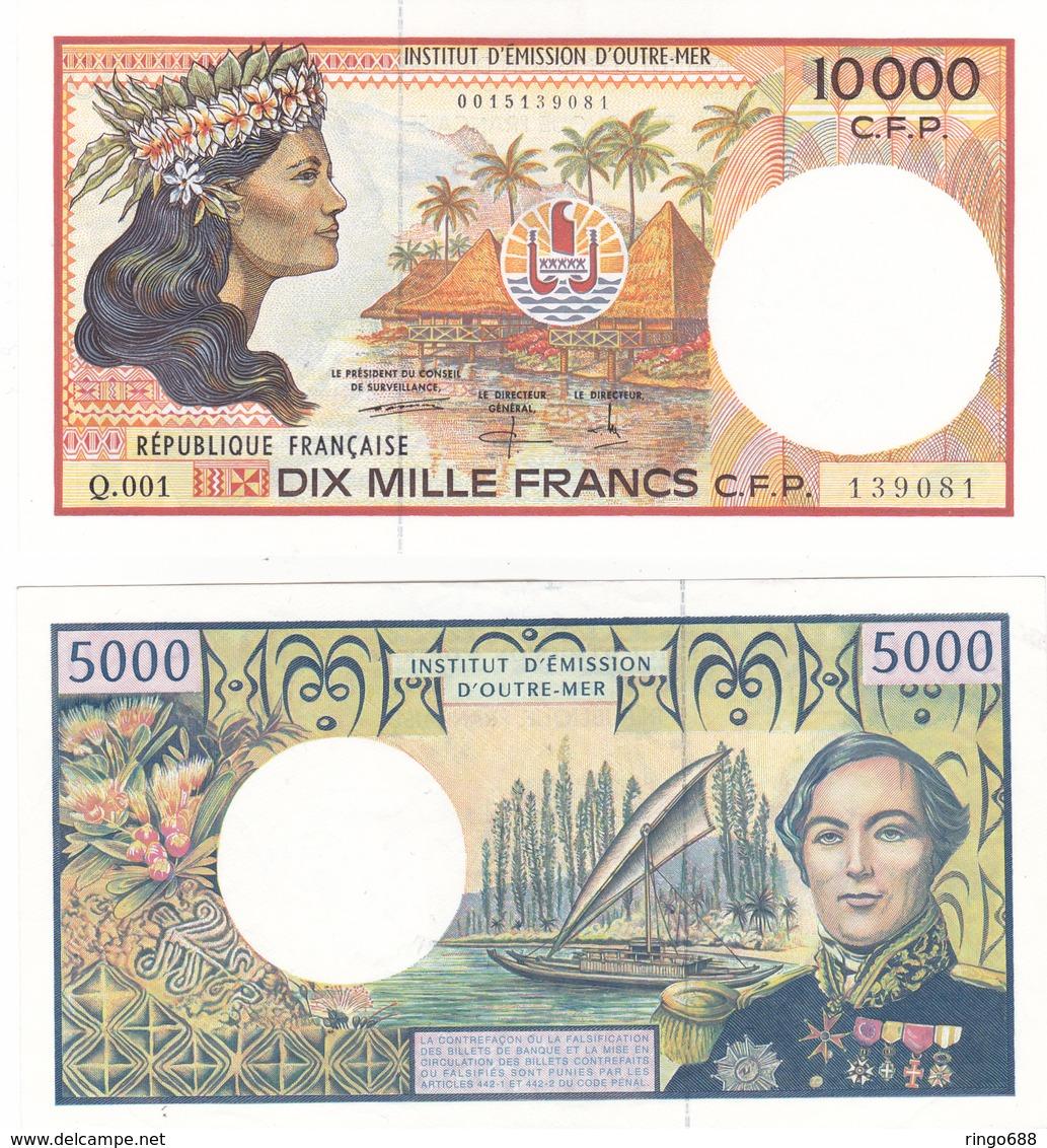 5000 Frs Et 10000 Frs Billet Quasi Neuf Jamais Circulè. - Papeete (Polynésie Française 1914-1985)