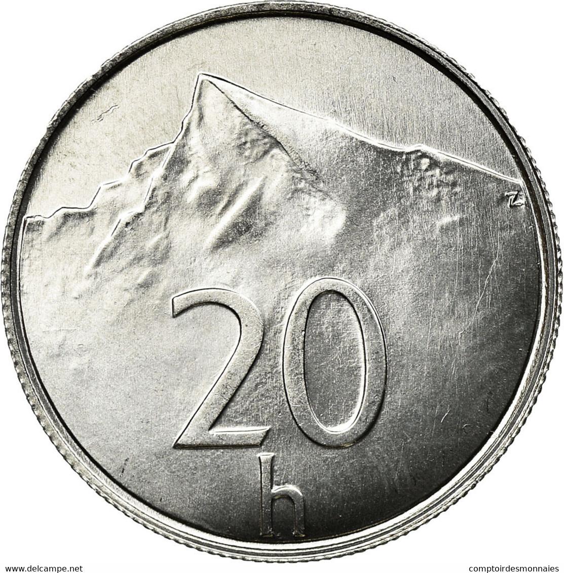 Monnaie, Slovaquie, 20 Halierov, 1996, SPL, Aluminium, KM:18 - Slovakia