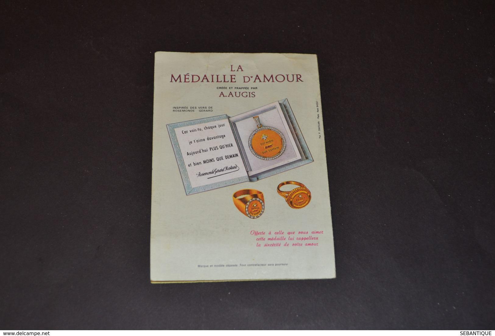 Mini Calendrier 1970 Médaille D'amour AUGIS - Calendriers