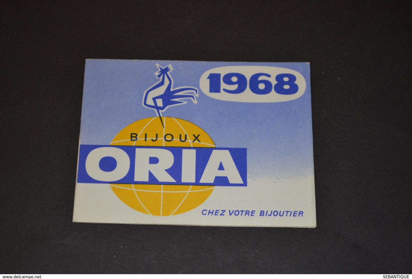Mini Calendrier 1968 Bijoux ORIA - Calendriers
