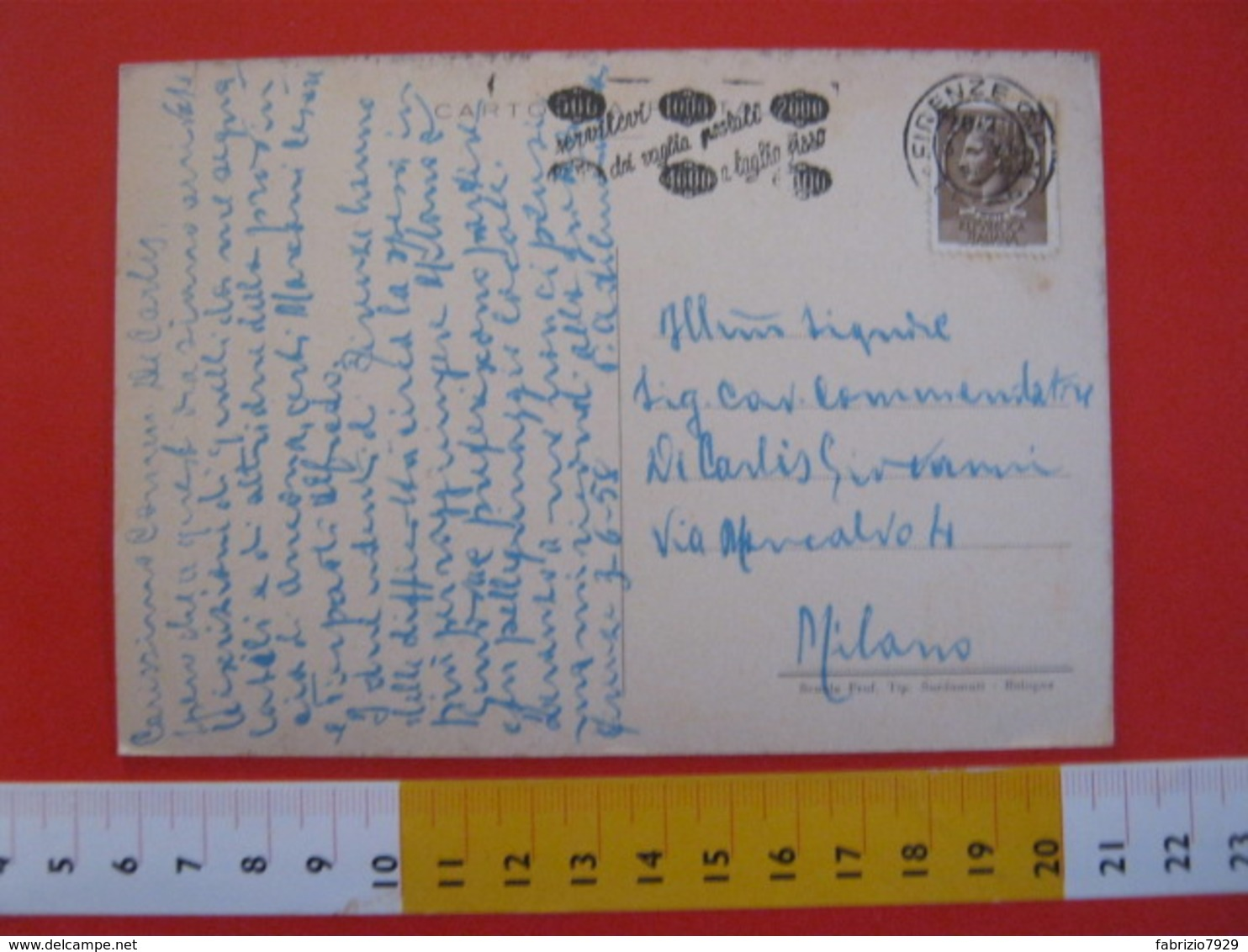 CA.15 ITALIA CARD - 1958 FIRENZE MADONNA DEI SORDOMUTI DIPINTO GUERCINO SALUTE HANDICAP GUALANDI BOLOGNA - Salute