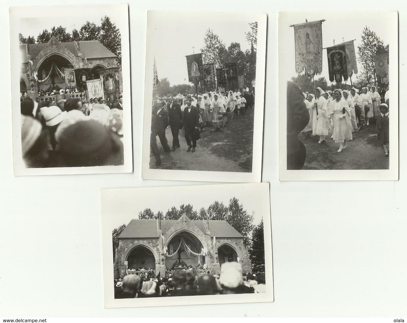 BRETAGNE FINISTÈRE PARDON DU FOLGOET 8 SEPTEMBRE 1934 LOT DE 4 PHOTOS ORIGINALES     Pa1 - Photographs