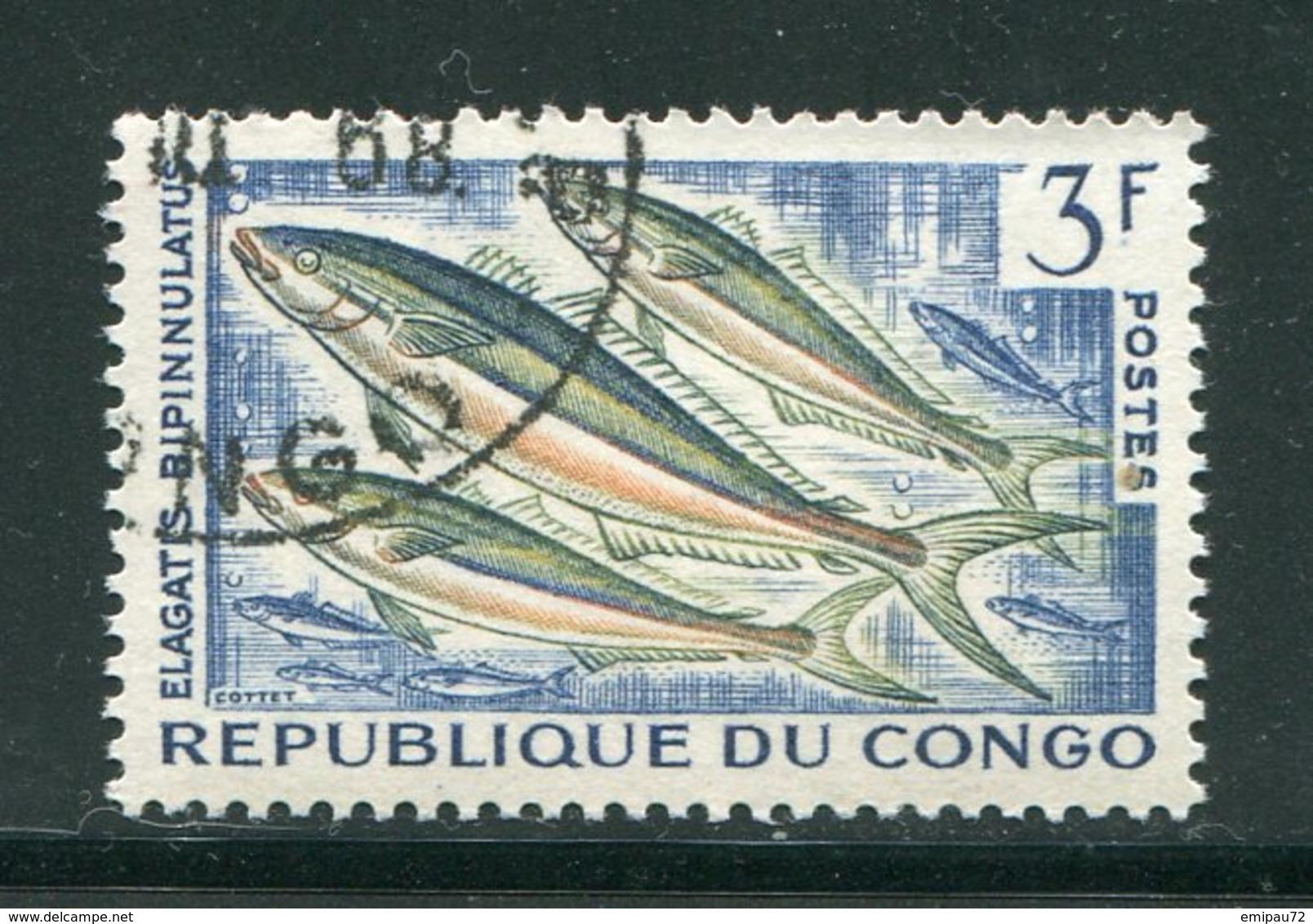 CONGO- Y&T N°145- Oblitéré (poissons) - Oblitérés
