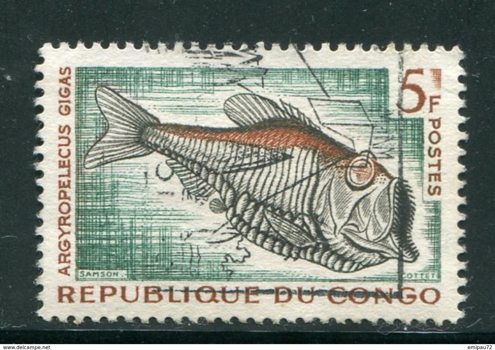 CONGO- Y&T N°146- Oblitéré (poissons) - Oblitérés