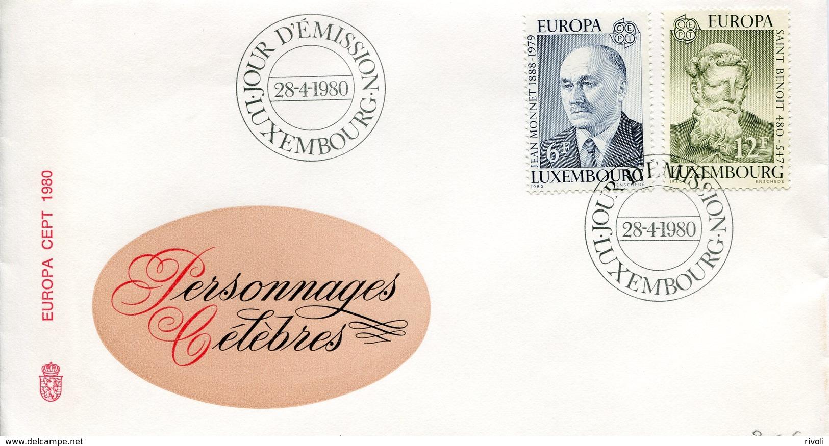 Europa CEPT Luxembourg -1980 Y&T N°959 à 960 - Michel N°1009 à 1010 FDC - 1980