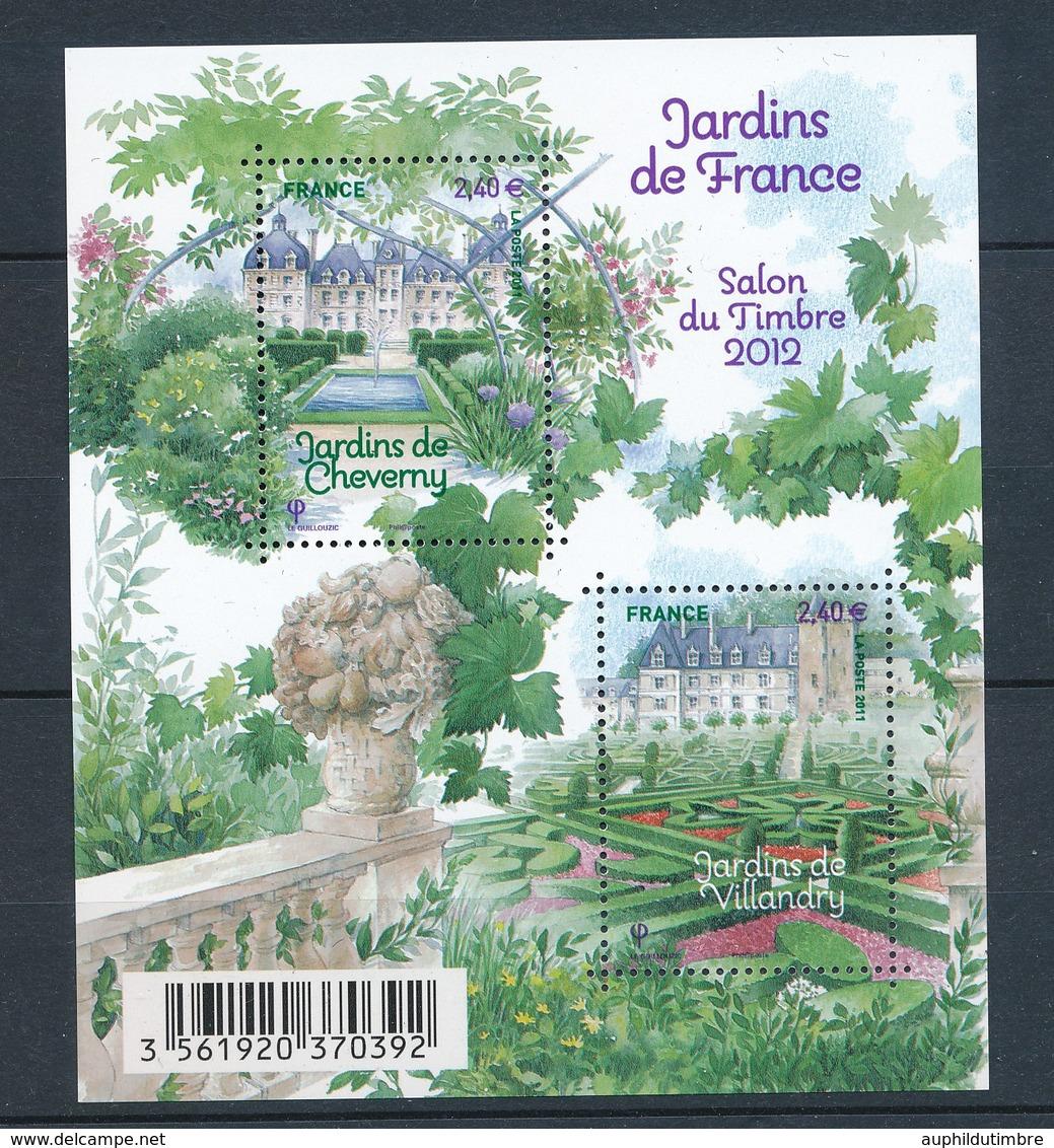 2011 France Bloc Feuillet N°4580 Jardins De France YB4580 - Blocs & Feuillets