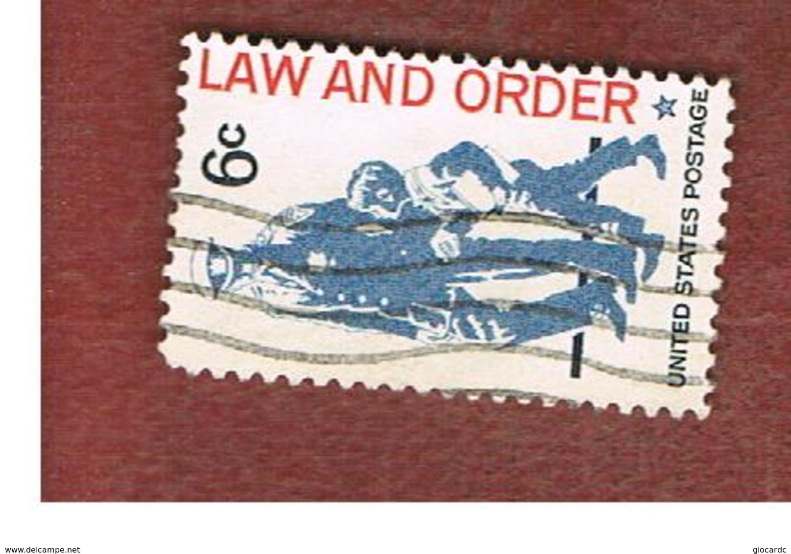 STATI UNITI (U.S.A.) - SG 1328  - 1968  LAW AND ORDER     - USED° - Stati Uniti