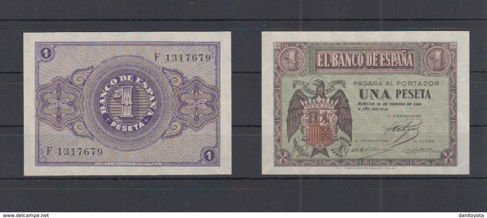 EDIFIL   427a.   1 PTA 28 DE FEBRERO DE 1938.   SIN CIRCULAR.   PAREJA CORRELATIVA - [ 3] 1936-1975 : Régence De Franco