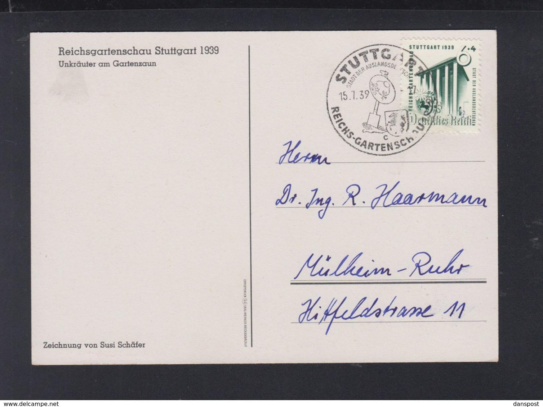Dt. Reich PK Reichsgartenschau 1939 - Briefe U. Dokumente