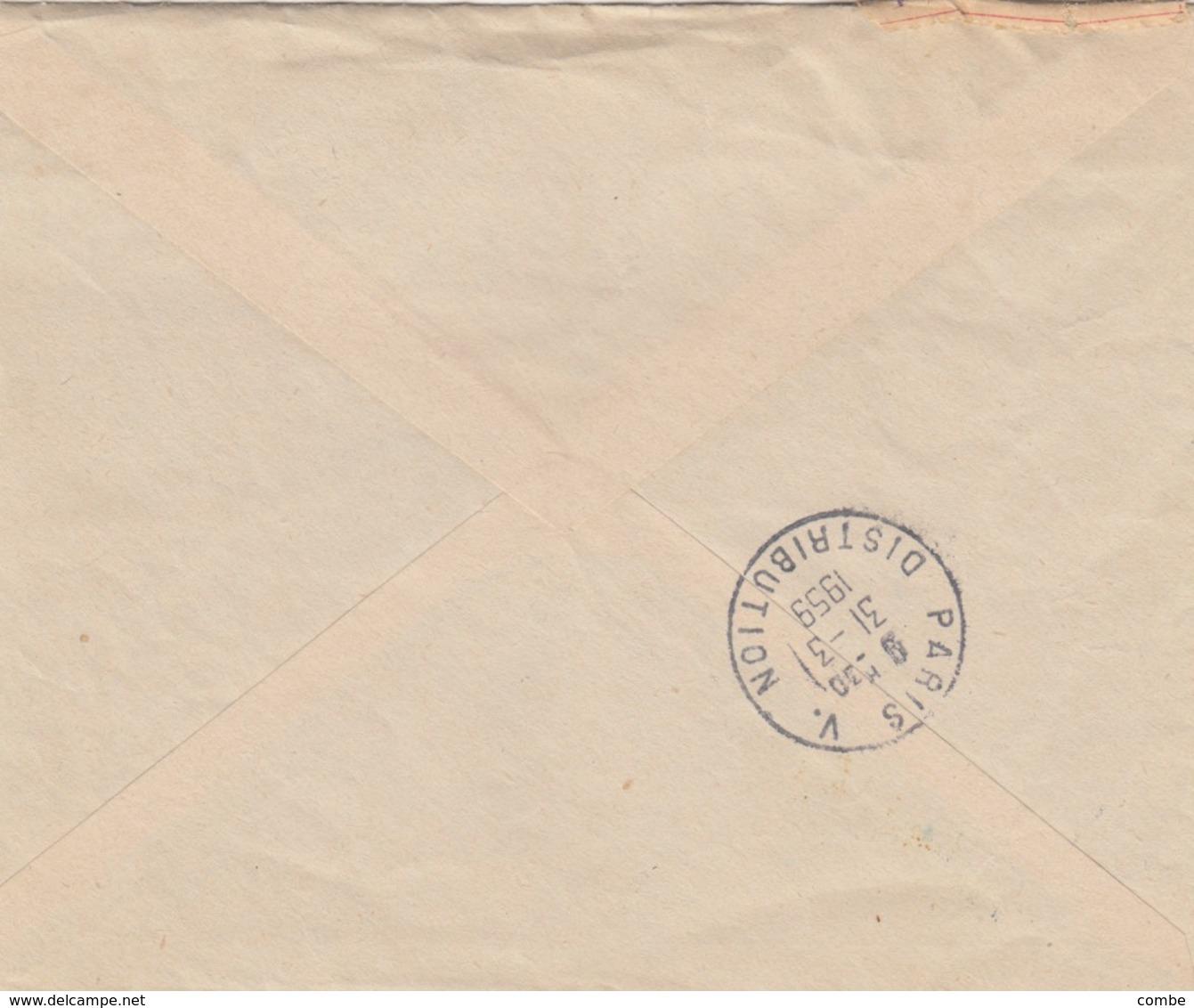 LETTRE. COVER. NOUVELLE CALEDONIE. 1959. AQUARIUM DE NOUMEA. PREMIER JOUR.  POUR LA FRANCE - Neukaledonien