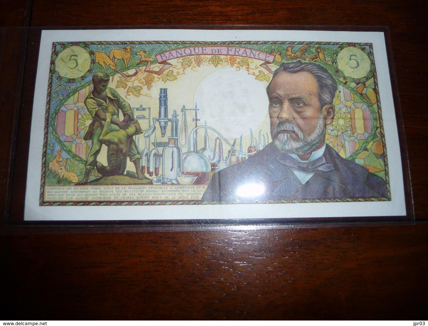 FRANCE * 5 Francs PASTEUR -  L 5 . 6 . 1969 - 5 F 1966-1970 ''Pasteur''