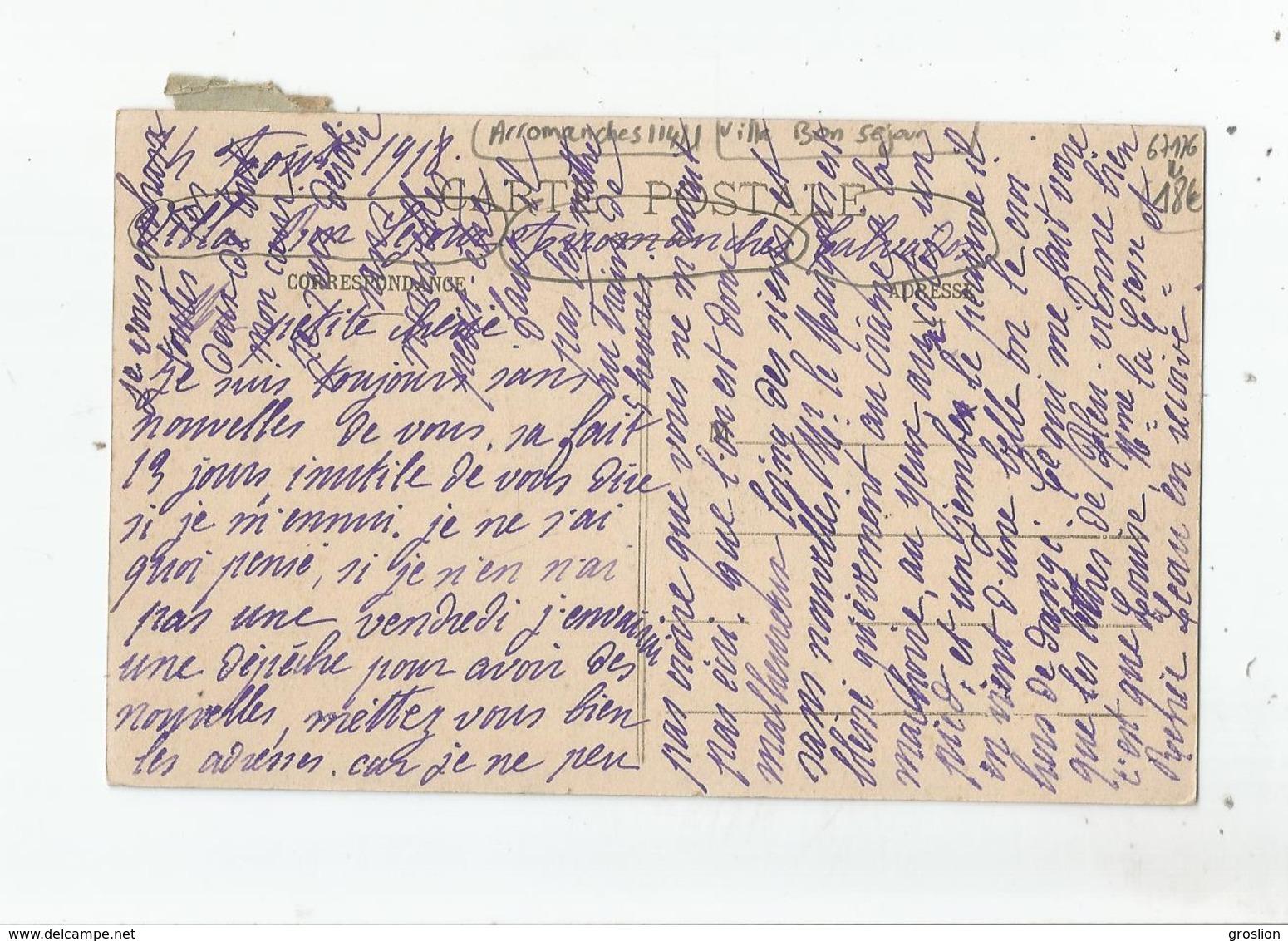 ARROMANCHES (CALVADOS) LA VILLA BON SEJOUR 1918 - Arromanches