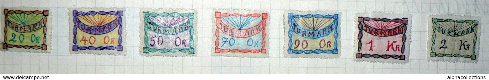 """TIMBRES DE FANTAISIE - Env. 260 Différents. Faits """"main"""". Pays Improbables : ARAGNE, VORSOLAVIA, CAPRILANDE, ISMERIE.... - Timbres"""