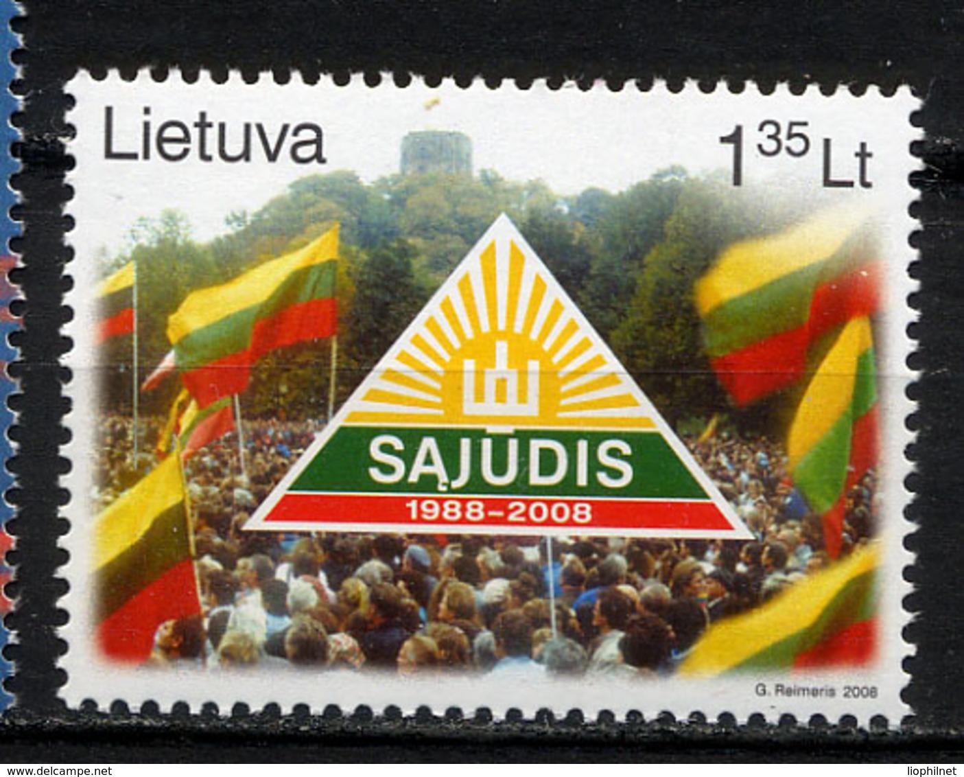 LITUANIE LIETUVA 2008, Mouvement SAJUDIS, 1 Valeur, Neuf / Mint. R1776 - Litauen