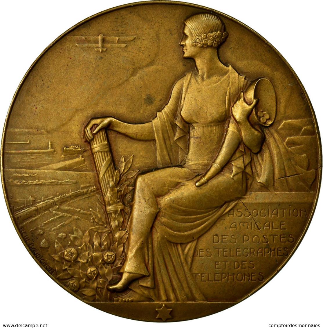 France, Médaille, Association Amicale Des Postes, Des Télégraphes Et Des - France