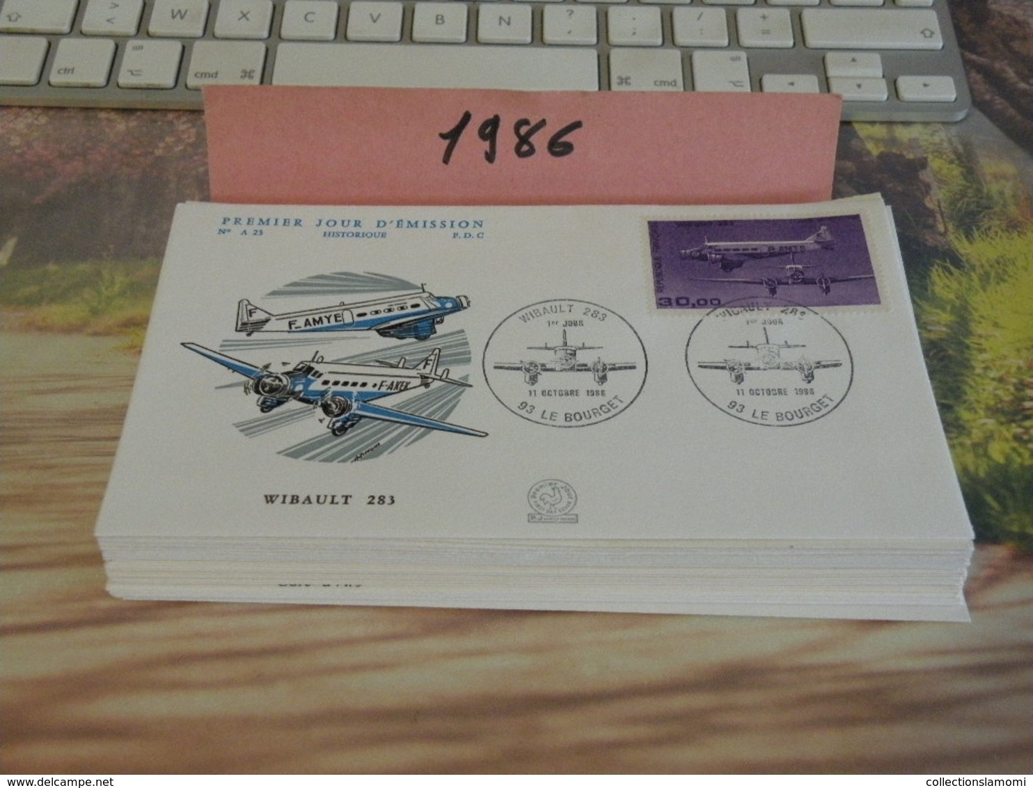 Lot De 39 FDC 1 Jour 1986 Historique - - FDC