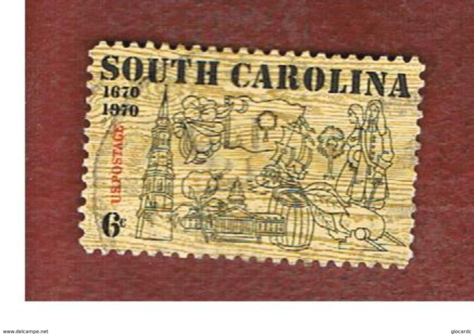STATI UNITI (U.S.A.) - SG 1403 - 1970   300^ ANNIVERSARY OF SOUTH CAROLINA     - USED - Usati