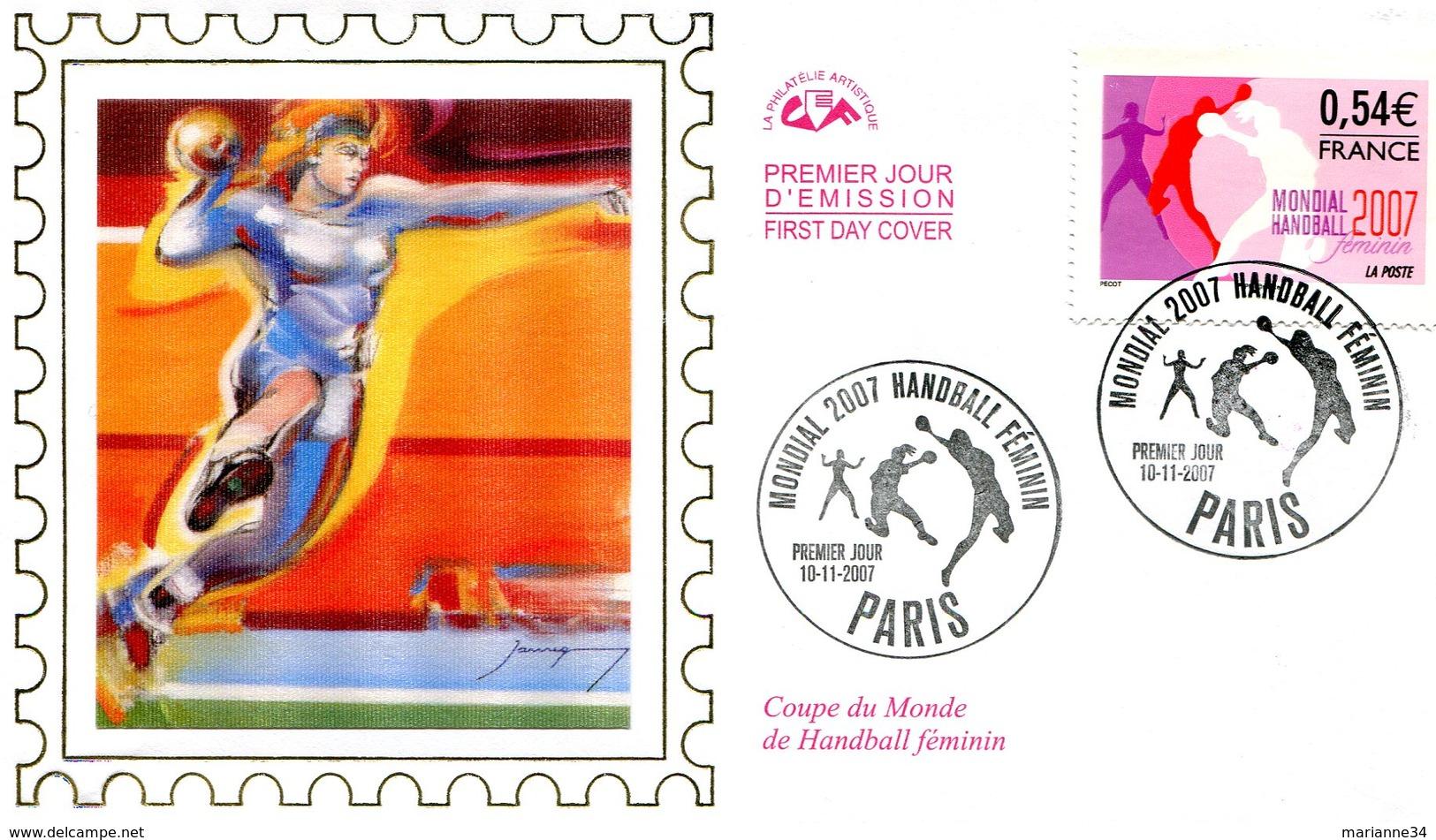 France-FDC-2007-yt 4118-Handball Féminin - 2000-2009
