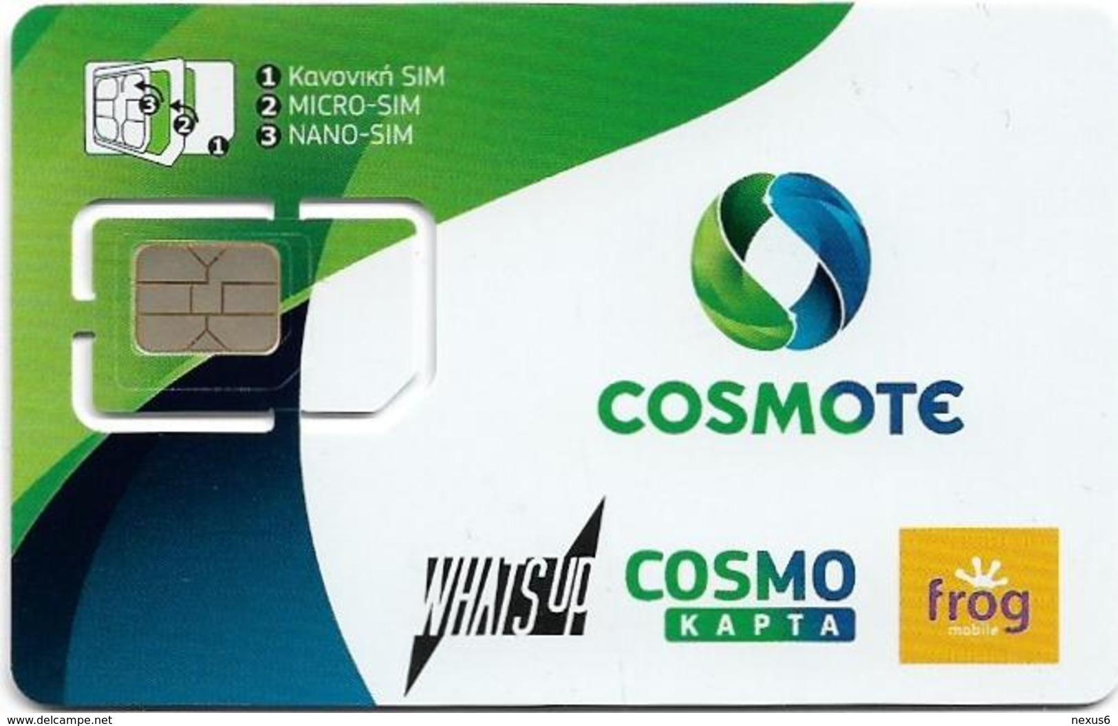 Greece - Cosmote - New Design, GSM SIM 6 Mini-Nicro-Nano, Mint - Greece