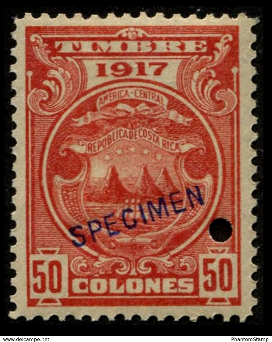 "1917 Costa Rica $50 Colones ""Color Proof Specimen"" - Costa Rica"