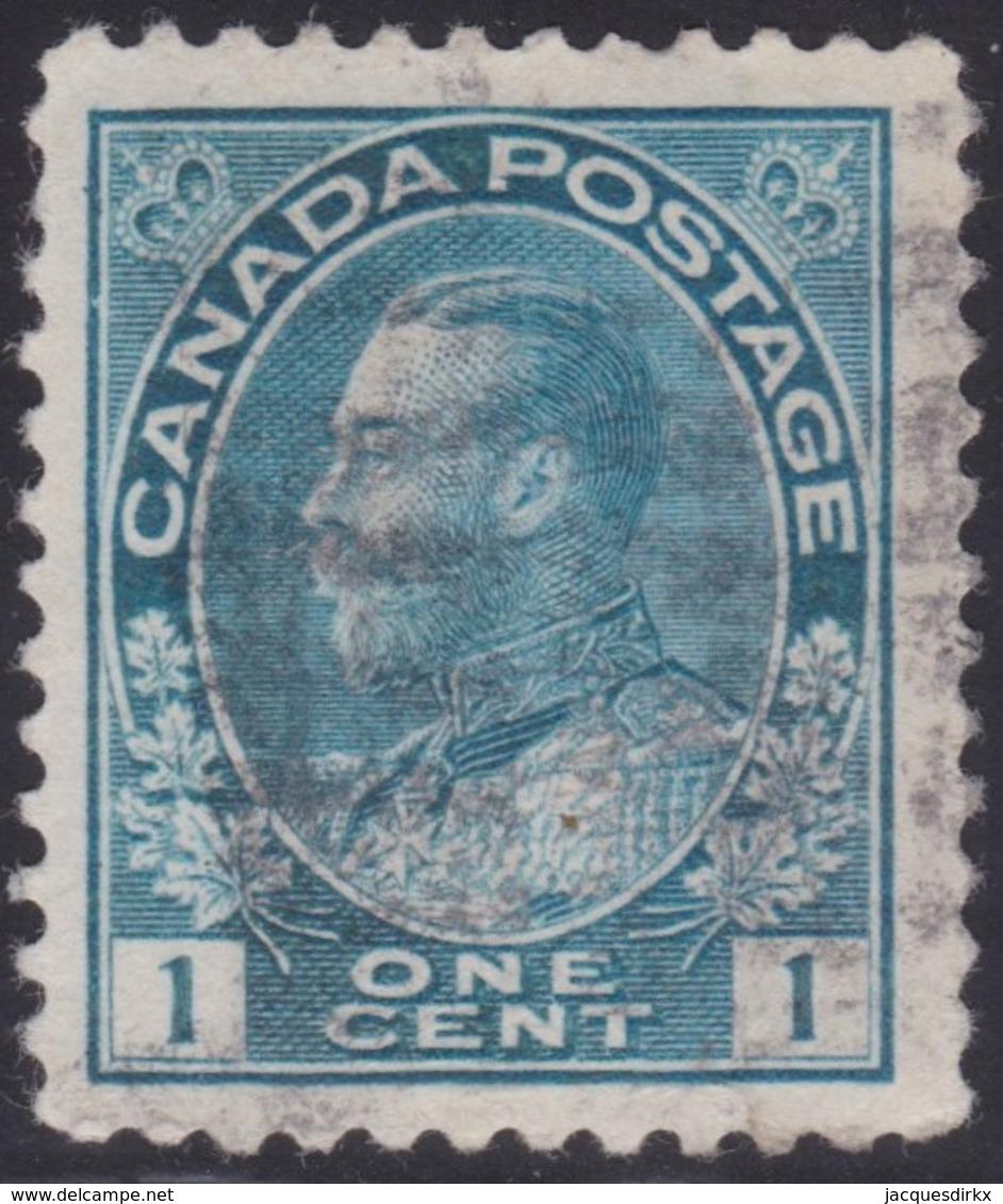 Canada  .  Scott     .      104          .      O    .  Cancelled  .   /    .  Gebruikt - 1911-1935 Regering Van George V