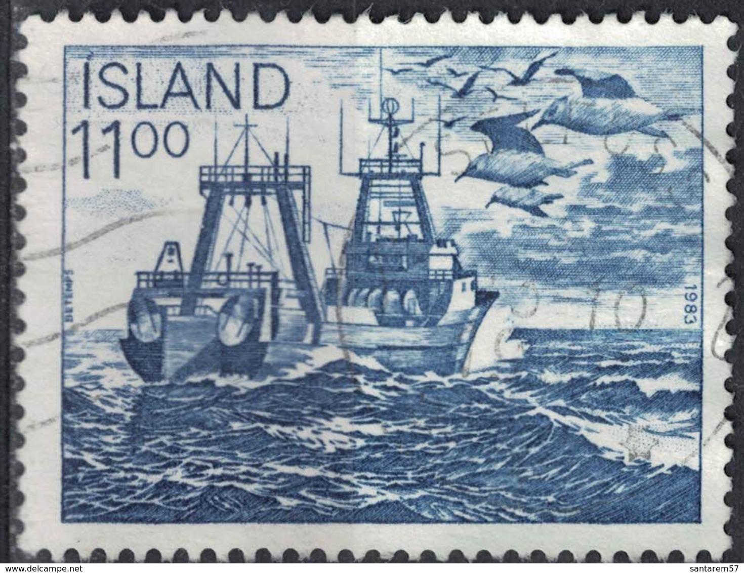 Islande 1983 Oblitéré Used Bateau De Pêche Chalutier SU - 1944-... Republik
