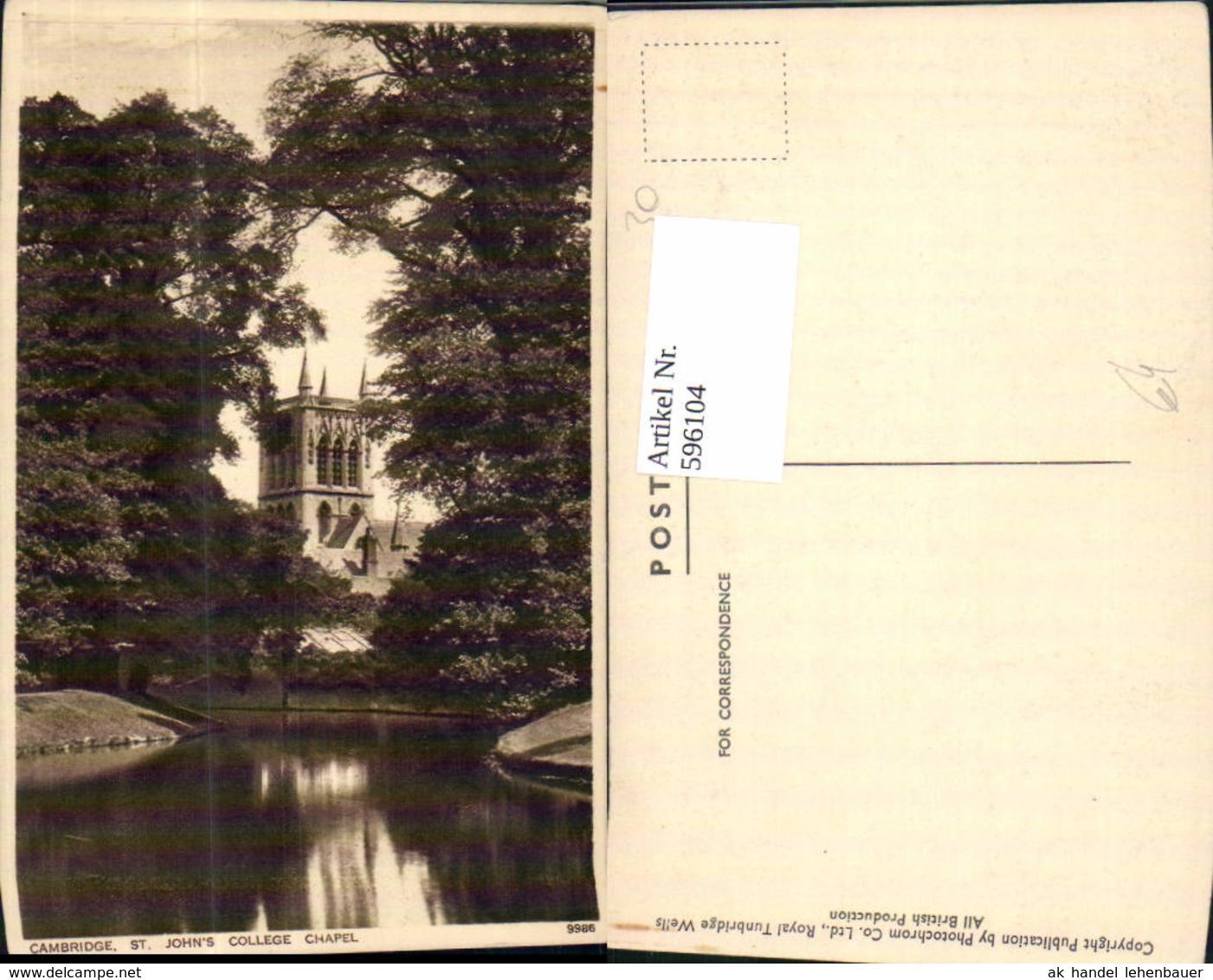 596104,Cambridge St Johns College Chapel Kapelle United Kingdom - England