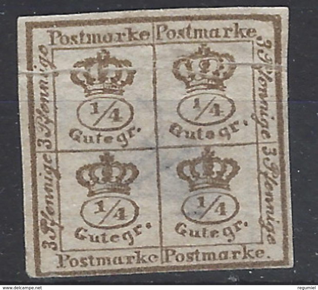 Brunswik 17 Sin Goma. 1866 - Braunschweig