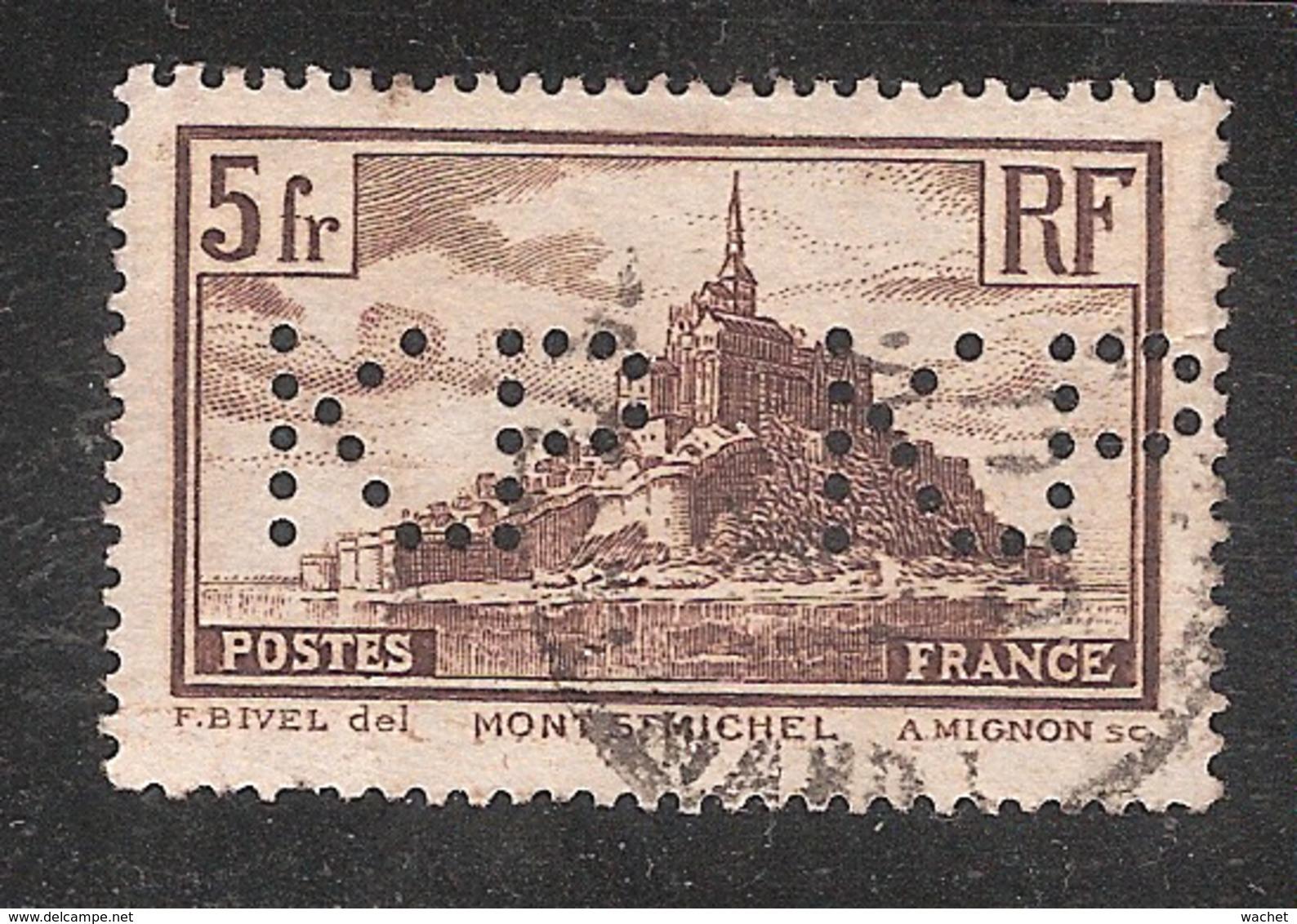 Perforé/perfin/lochung France No 260 K.P.  Kodak Pathé (18) - Perforés
