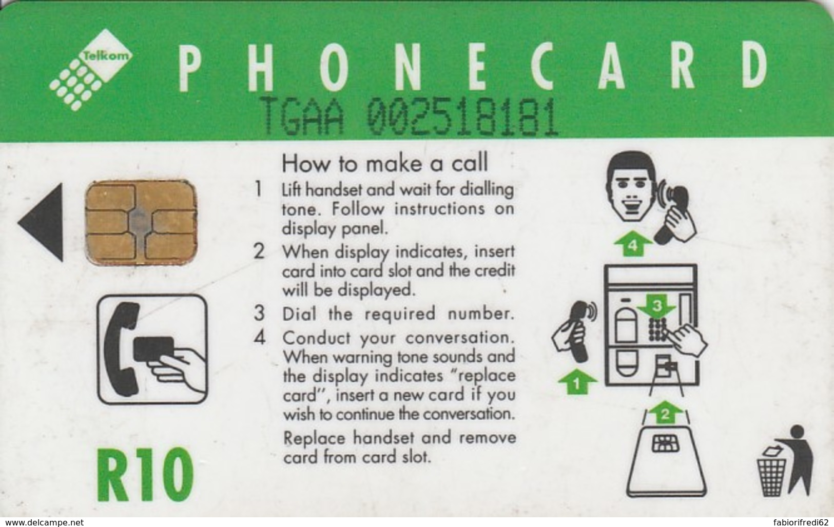PHONE CARD SUDAFRICA (E43.12.7 - Sudafrica