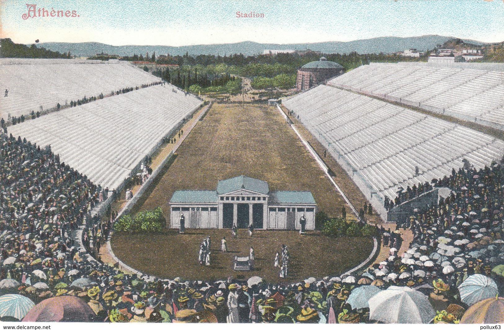CPA ATHENES (GRECE) STADION - ECRITE PAR UN MILITAIRE FRANCAIS DE L'ARMEE D'ORIENT - Grecia