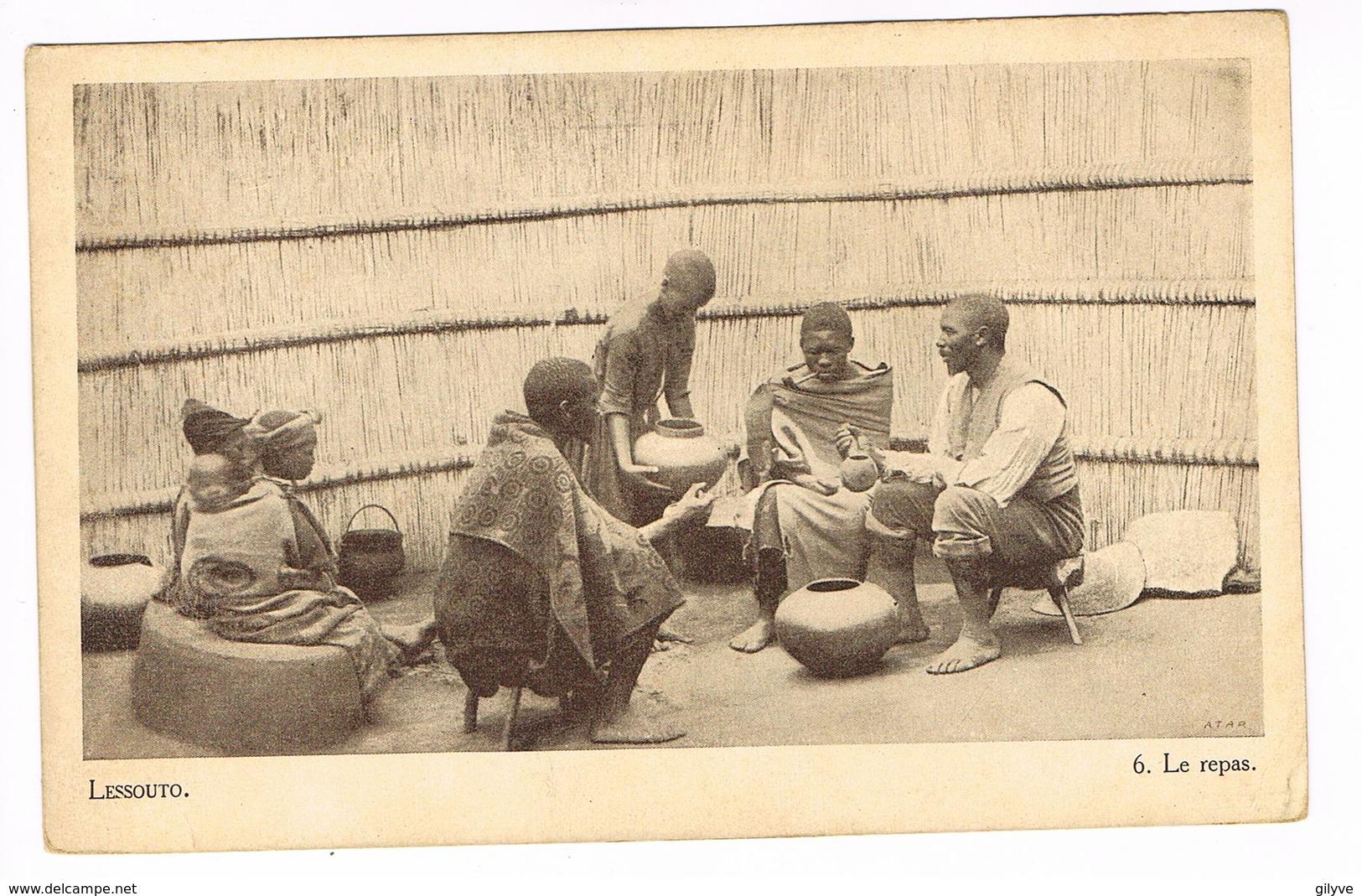 CPA.Afrique.Lessouto (Lesotho)  Le Repas.    (F.205) - Lesotho