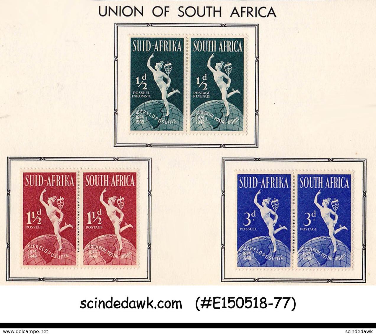 SOUTH AFRICA - 1949 75th Anniversary Of UPU - 3V PAIR - MH - Südafrika (...-1961)