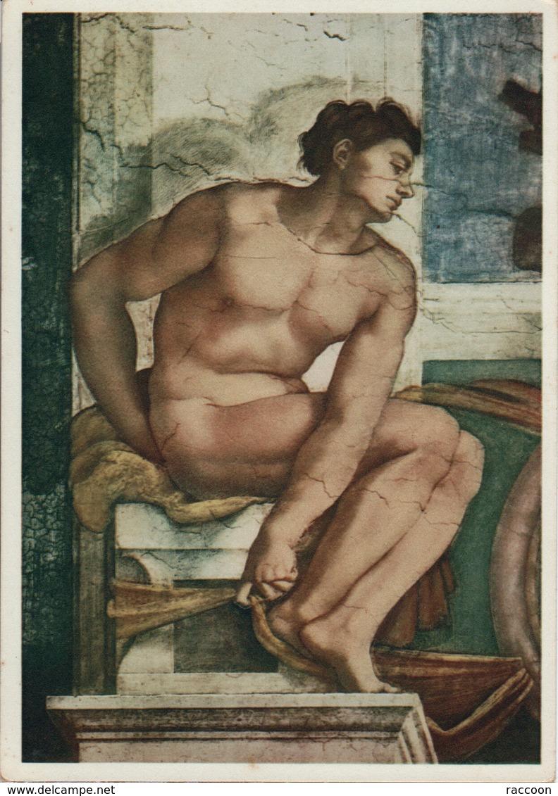 MICHELANGE: Figure Décorative [ Nu Homme CPM Italienne ] ER047 - Tableaux