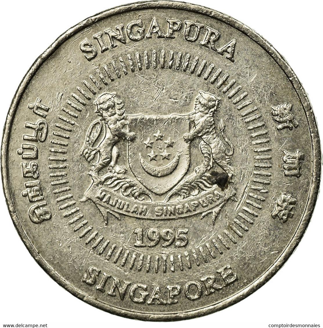 Monnaie, Singapour, 50 Cents, 1995, Singapore Mint, TB+, Copper-nickel, KM:102 - Singapour