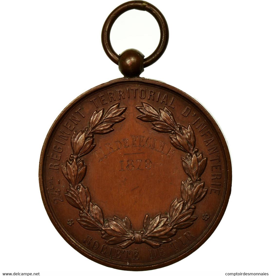 France, Médaille, 2ème Régiment D'Infanterie, Société De Tir De Fécamp - France